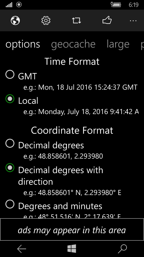 GMT vs. local time.