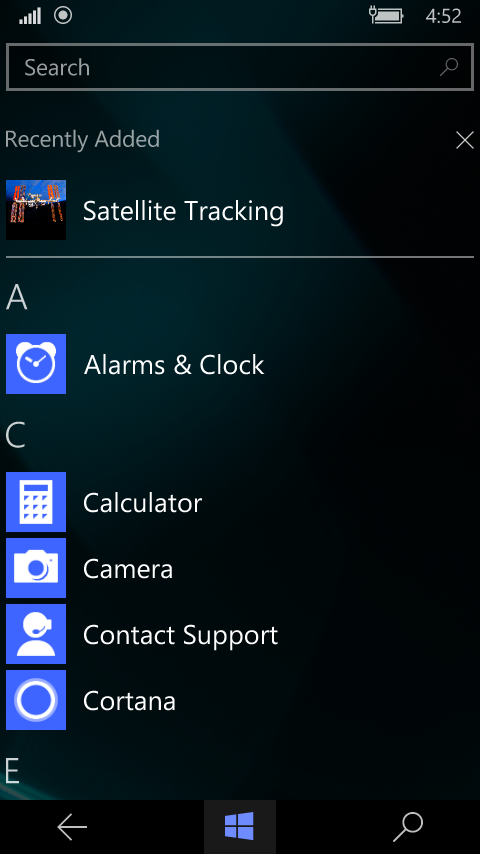 Satellite Tracking application.